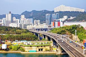 view on Hong Kong streetの写真素材 [FYI00645227]