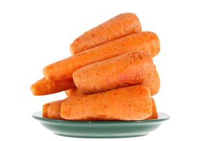 ripe carrot on a white backgroundの写真素材 [FYI00645231]