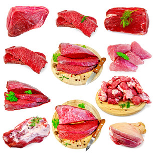 Meat beef and pork setの写真素材 [FYI00645236]
