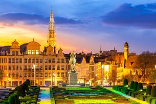 Brussels Cityscape Belgiumの写真素材 [FYI00645339]
