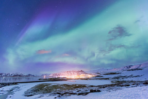Northern Light Aurora borealis Icelandの写真素材 [FYI00645340]