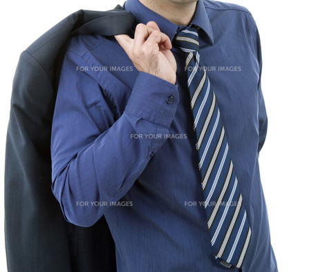 blue tieの写真素材 [FYI00645385]