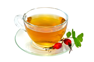 Tea with rosehip in a cupの写真素材 [FYI00645498]