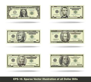 All Dollar Bills Flatの写真素材 [FYI00645601]