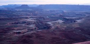 Twilight Soda Springs Basin Green River Utah Wildernessの写真素材 [FYI00645674]