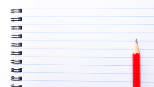 White blank  notebook page with copy spaceの素材 [FYI00645788]
