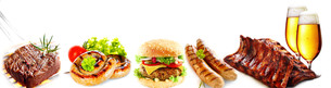 Banner with delicious bar lunchesの写真素材 [FYI00645907]
