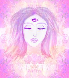 Woman with third eye, psychic supernatural sensesの写真素材 [FYI00645951]