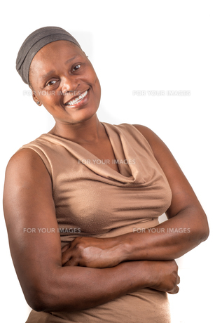 African Lady Portraitの写真素材 [FYI00646081]