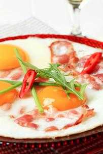 Ham and eggsの写真素材 [FYI00646145]