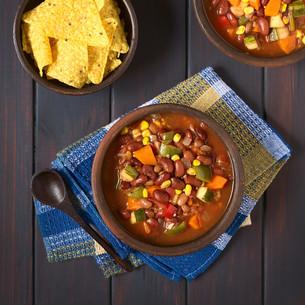 Vegetarian Chiliの写真素材 [FYI00646312]