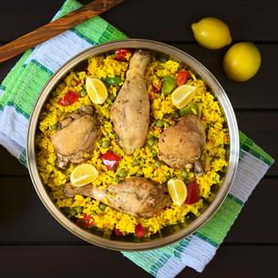 Spanish Chicken Paellaの写真素材 [FYI00646364]