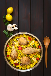 Spanish Chicken Paellaの写真素材 [FYI00646367]