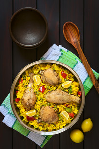 Spanish Chicken Paellaの写真素材 [FYI00646368]