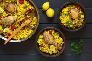 Spanish Chicken Paellaの写真素材 [FYI00646369]