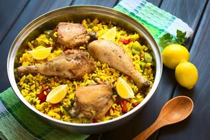Spanish Chicken Paellaの写真素材 [FYI00646373]
