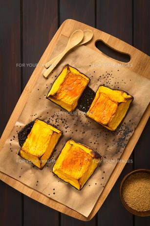 Sweet Baked Pumpkin Piecesの写真素材 [FYI00646374]