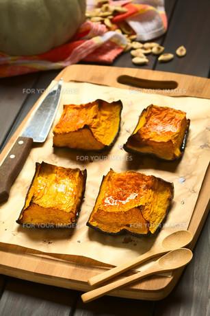 Sweet Baked Pumpkin Piecesの写真素材 [FYI00646377]