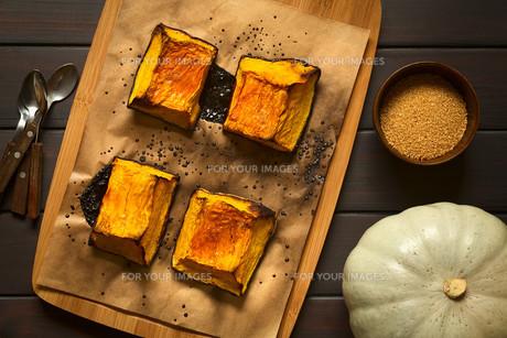 Sweet Baked Pumpkin Piecesの写真素材 [FYI00646378]