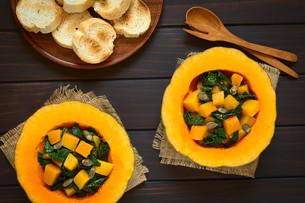 Pumpkin and Chard Saladの写真素材 [FYI00646380]