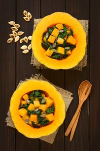 Pumpkin and Chard Saladの写真素材 [FYI00646381]