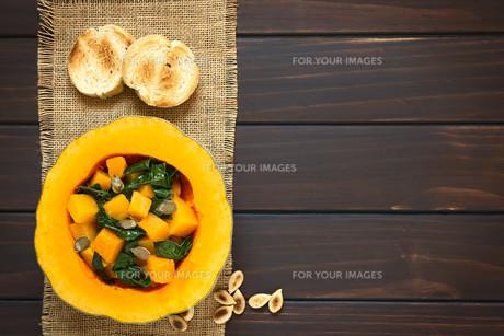 Pumpkin and Chard Saladの写真素材 [FYI00646383]