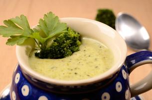 Broccoli cream soupの写真素材 [FYI00646424]