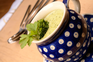 Broccoli cream soupの写真素材 [FYI00646428]