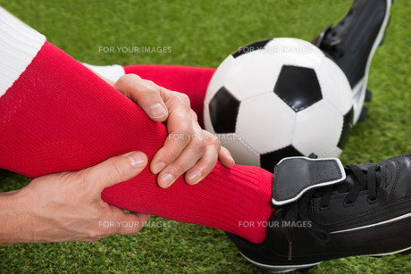 Injured Soccer Playerの写真素材 [FYI00646603]