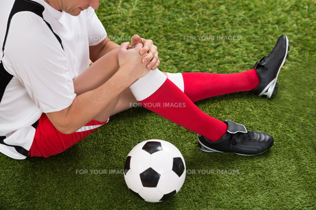 Soccer Player With Knee Injuryの写真素材 [FYI00646607]