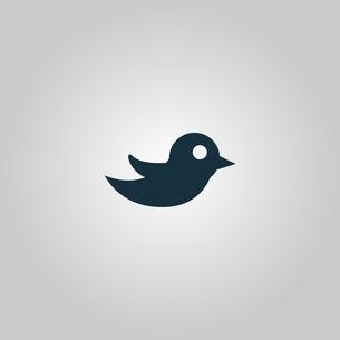 bird iconの写真素材 [FYI00646608]