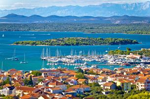 Croatian island archipelago view near Murterの写真素材 [FYI00646651]