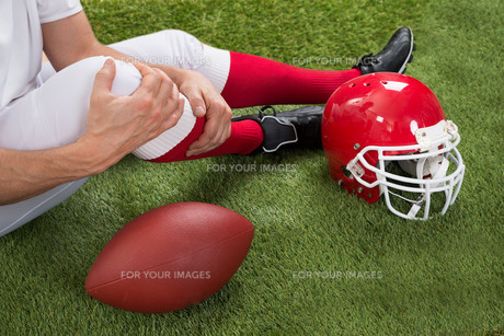 Injured American Football Playerの写真素材 [FYI00646686]
