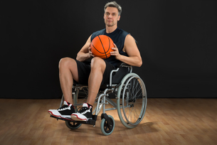 Disabled Player On Wheelchairの写真素材 [FYI00646689]