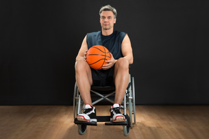 Disabled Player On Wheelchairの写真素材 [FYI00646691]