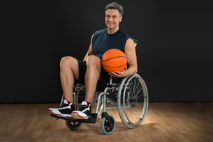 Disabled Player On Wheelchairの写真素材 [FYI00646692]