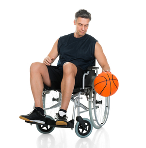 Disabled Player On Wheelchairの写真素材 [FYI00646708]