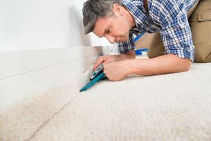 Craftsman Fitting Carpetの写真素材 [FYI00646775]