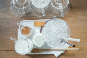 Ingredient of ice coffee mochaの写真素材 [FYI00647265]