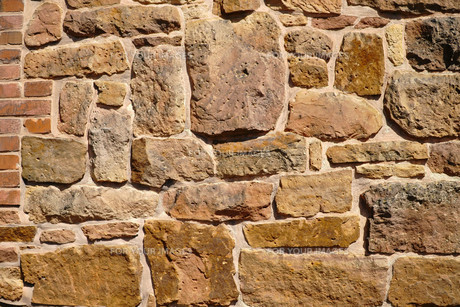 Old stone wallの写真素材 [FYI00647491]