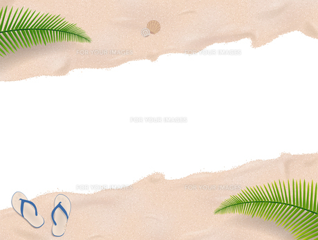 caribbean beach with isolated area in the middleの写真素材 [FYI00647494]