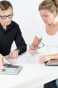 Team, Mann und Frau arbeiten an Planungの写真素材 [FYI00647506]