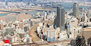 Osaka Cityscapeの写真素材 [FYI00647554]