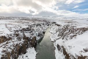 Winter landscape Icelandの写真素材 [FYI00647557]