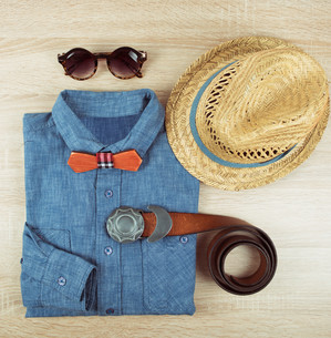 summer male clothingの写真素材 [FYI00647563]