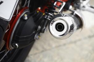 Motorcycle exhaustの写真素材 [FYI00647628]
