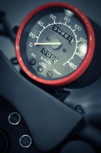 Motorcycle speedometerの写真素材 [FYI00647635]