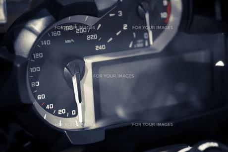 Motorcycle speedometerの素材 [FYI00647637]