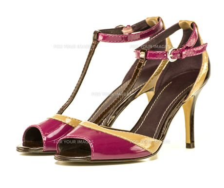 Fashionable High Heels Shoe, multi colored, XXXL imageの写真素材 [FYI00647687]