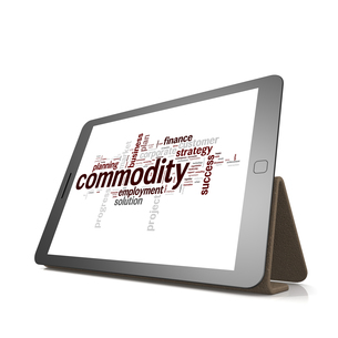 Commodity word cloud on tabletの素材 [FYI00647705]